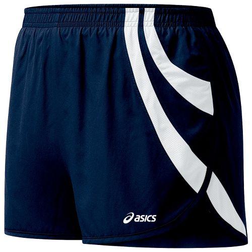 Womens ASICS Intensity 1/2 Split Shorts - Navy/White L