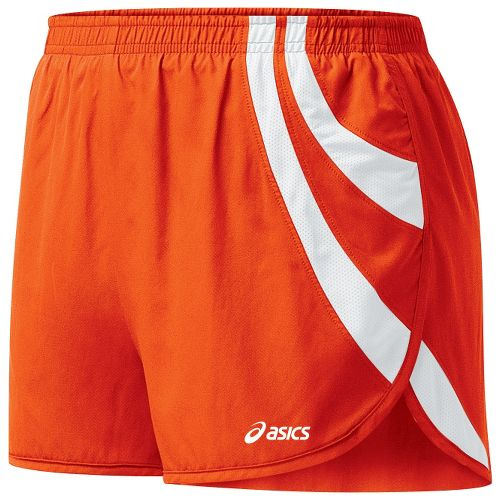 Womens ASICS Intensity 1/2 Split Shorts - Orange/White XS