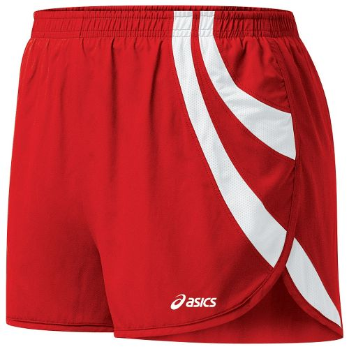 Womens ASICS Intensity 1/2 Split Shorts - Red/White M