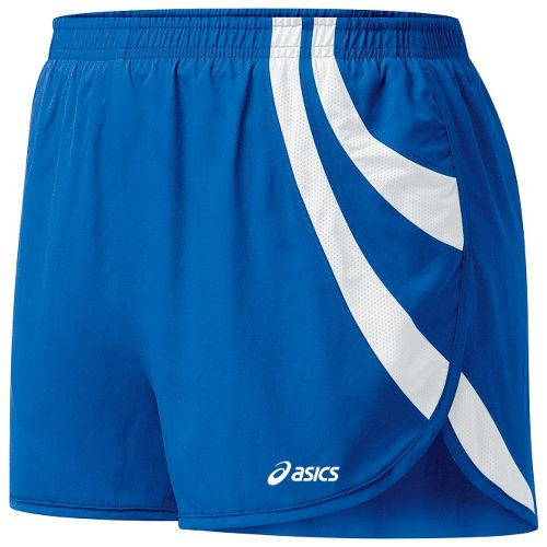 Womens ASICS Intensity 1/2 Split Shorts - Royal/White L