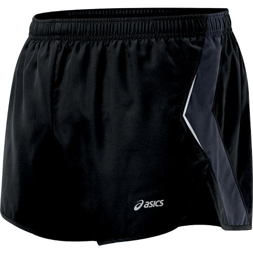 Mens ASICS Split Short Splits Shorts - Black/Iron L
