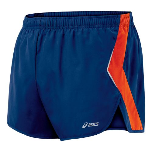 Mens ASICS Split Short Splits Shorts - Estate/Blaze S