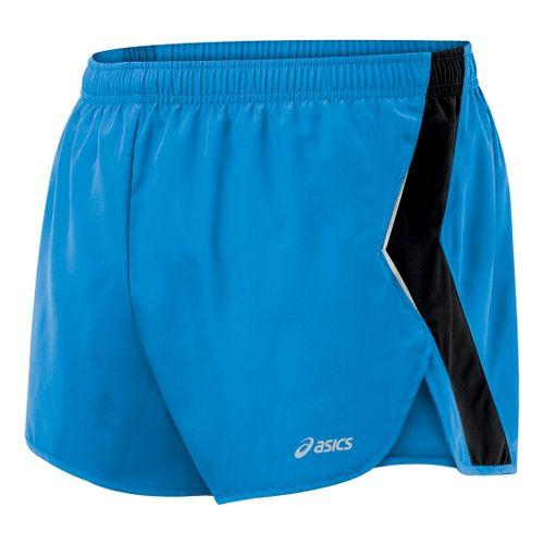 Mens ASICS Split Short Splits Shorts - Pacific Blue/Black L