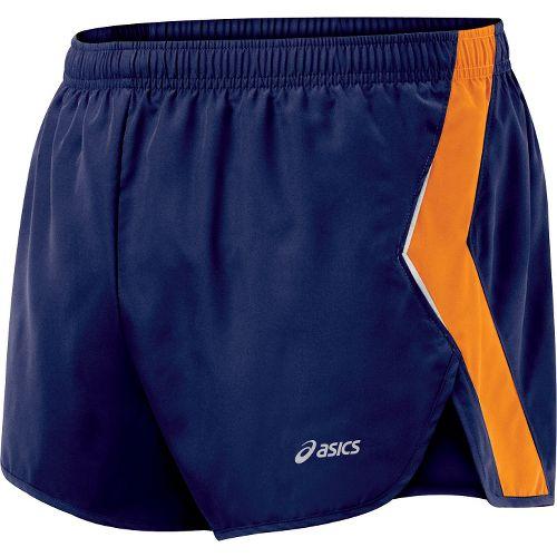 Mens ASICS Split Short Splits Shorts - Peacoat/Cheddar L