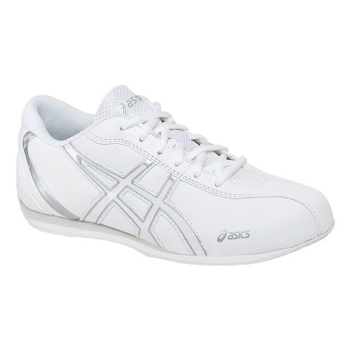 Kids ASICS Inspire 2 GS Cheerleading Shoe - White/Silver 3.5
