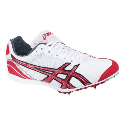 Mens ASICS Japan Thunder 3 Track and Field Shoe - White/Red 7.5