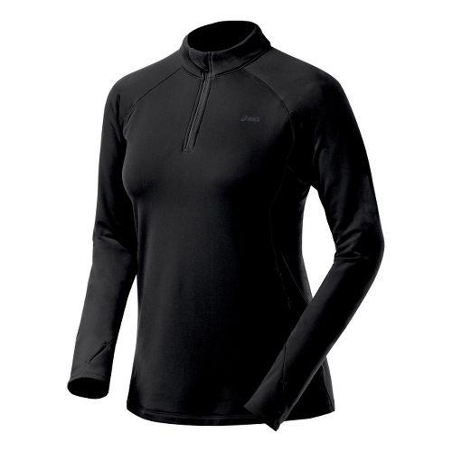 Womens ASICS Thermopolis XP Half Zip Long Sleeve 1/2 Zip Technical Tops - Black L ...