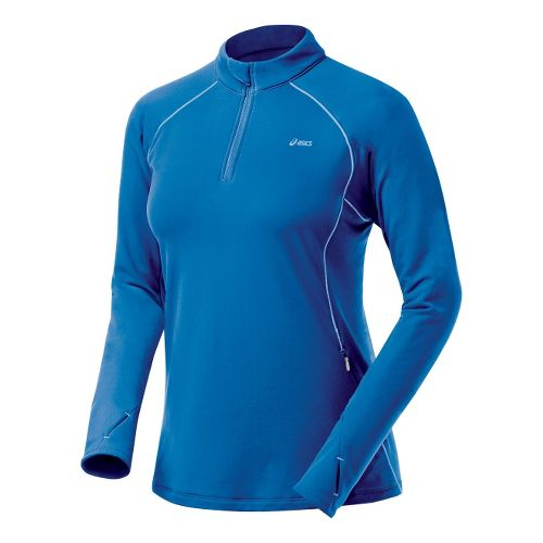 Womens ASICS Thermopolis XP Half Zip Long Sleeve 1/2 Zip Technical Tops - Sapphire/Powder L ...