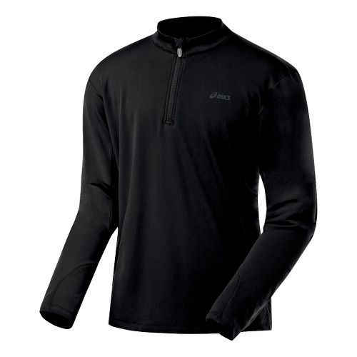 Mens ASICS Thermopolis XP Half Zip Long Sleeve 1/2 Zip Technical Tops - Black/Black M ...