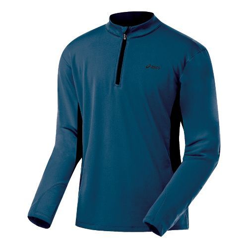 Mens ASICS Thermopolis XP Half Zip Long Sleeve 1/2 Zip Technical Tops - Midnight/Black M ...