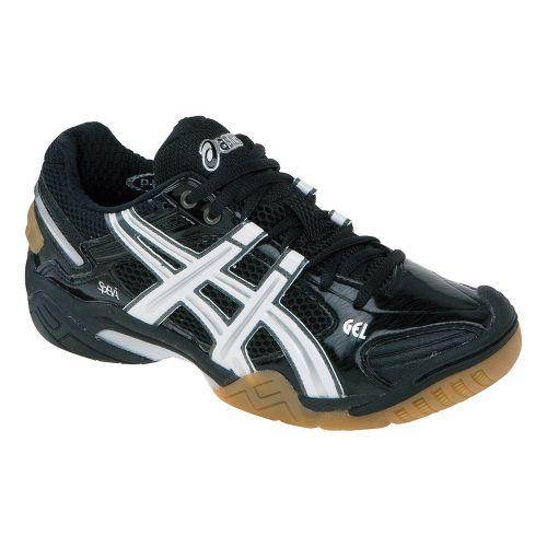 Womens ASICS GEL-Domain 2 Court Shoe - Black/White 6.5