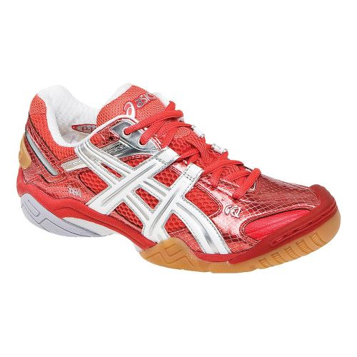 Womens ASICS GEL-Domain 2 Court Shoe - Red Pepper/White 6