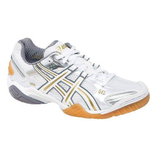 Womens ASICS GEL-Domain 2 Court Shoe - White/Lightning 11.5