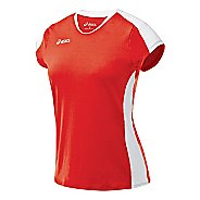 Womens ASICS Striker Cap Sleeve Short Sleeve Technical Tops