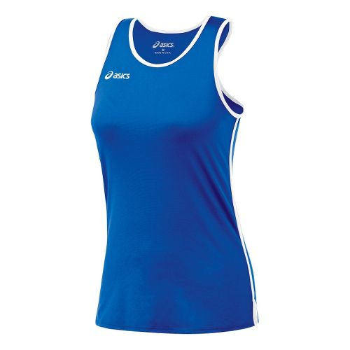 Womens ASICS Field Shimmel Tanks Technical Tops - Royal/White XS