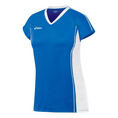 Womens ASICS Replay Jersey Short Sleeve Technical Tops - Royal/White XS