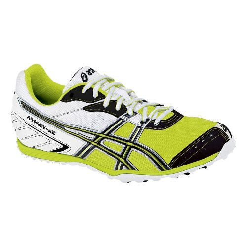 Mens ASICS Hyper XC Cross Country Shoe - White/Onyx 4.5