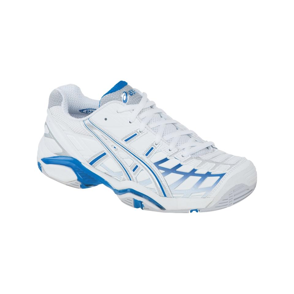 396f1ce7463f Womens ASICS GEL Challenger 8 Shoe White Maui Blue on PopScreen