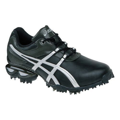 Mens ASICS GEL-Linksmaster Casual Shoe - Black/Silver 8.5