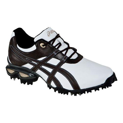 Mens ASICS GEL-Linksmaster Casual Shoe - White/Coffee 14