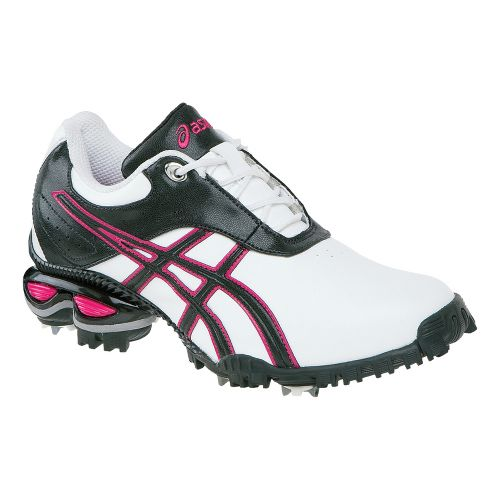 Womens ASICS GEL-Linksmaster Golf Shoe - White/Raspberry 11
