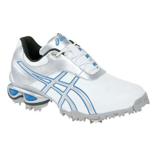 Womens ASICS GEL-Linksmaster Golf Shoe - White/Silver 10.5