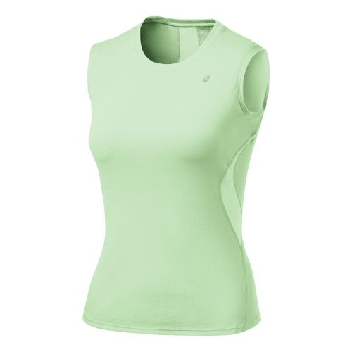 Womens ASICS Favorite Tank Tanks Technical Tops - Aloe M