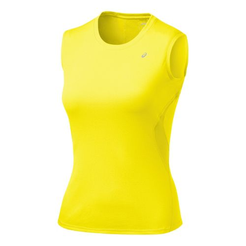 Womens ASICS Favorite Tank Tanks Technical Tops - Canary XS