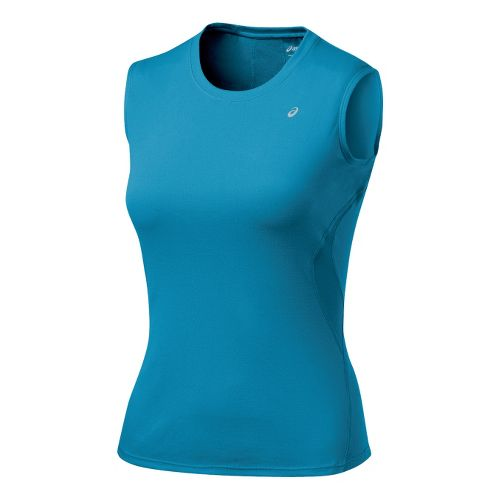 Womens ASICS Favorite Tank Tanks Technical Tops - Lapis L
