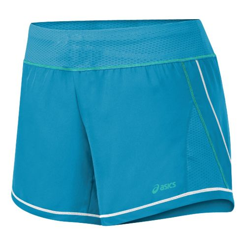 Womens ASICS Everysport Short Lined Shorts - Lapis/Teal XS