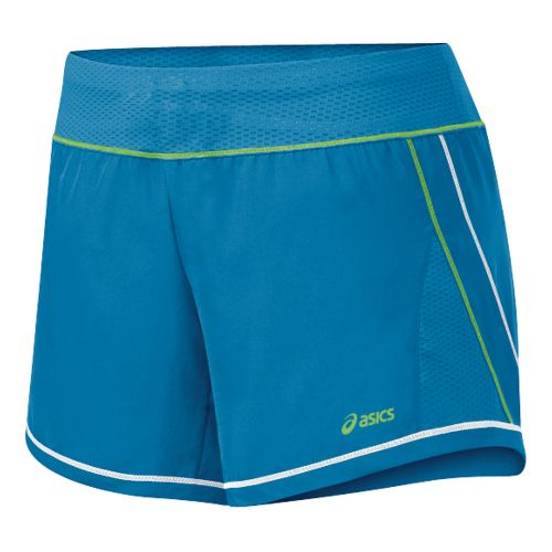 Womens ASICS Everysport Short Lined Shorts - Peacock/Greenery L