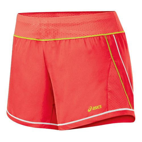 Womens ASICS Everysport Short Lined Shorts - Ruby/WOW XS