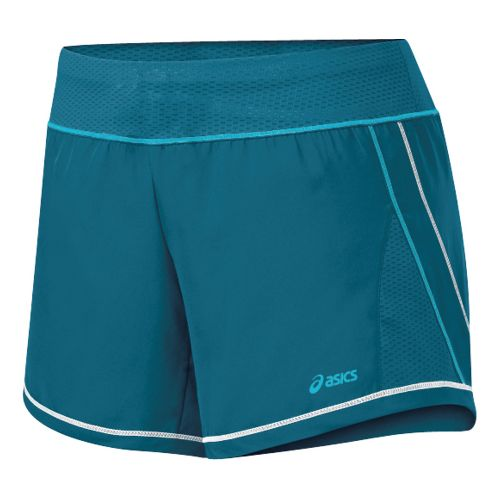 Womens ASICS Everysport Short Lined Shorts - Zircon/Aqua L