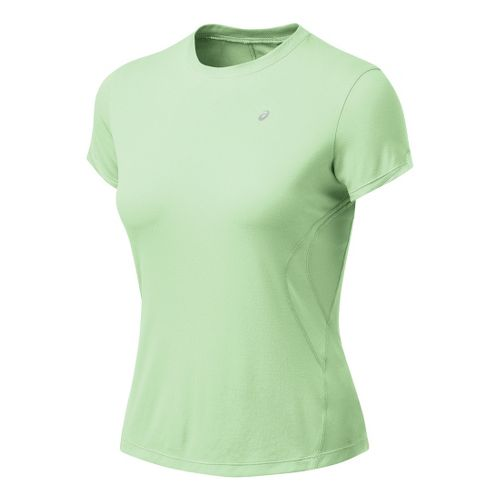 Womens ASICS Favorite Short Sleeve Short Sleeve Technical Tops - Aloe M