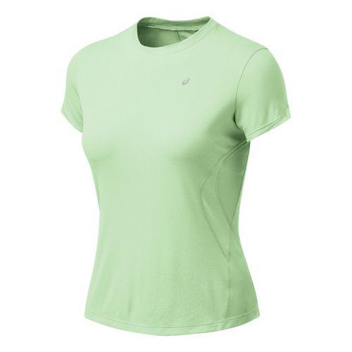Womens ASICS Favorite Short Sleeve Short Sleeve Technical Tops - Aloe XS