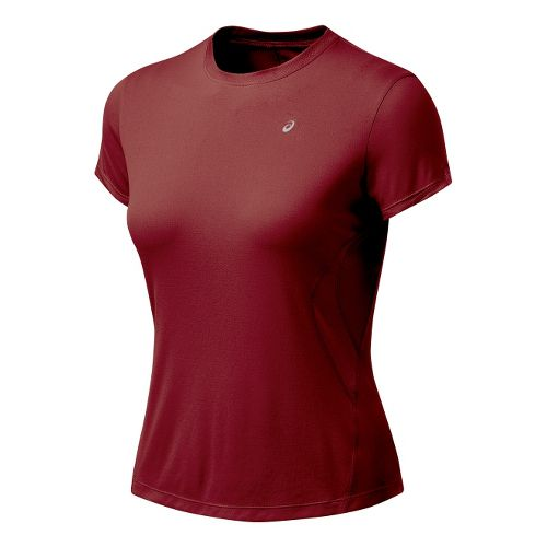 Womens ASICS Favorite Short Sleeve Short Sleeve Technical Tops - Rumba XL