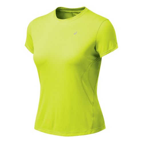 Womens ASICS Favorite Short Sleeve Short Sleeve Technical Tops - WOW S