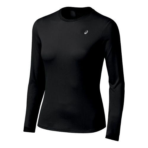Womens ASICS Favorite Long Sleeve Long Sleeve No Zip Technical Tops - Black XL
