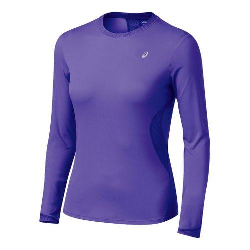 Womens ASICS Favorite Long Sleeve Long Sleeve No Zip Technical Tops - Jewel XL