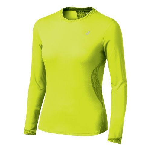 Womens ASICS Favorite Long Sleeve Long Sleeve No Zip Technical Tops - WOW S