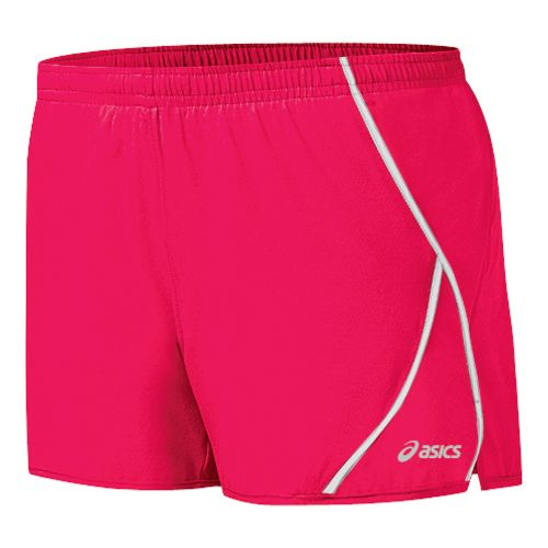 Womens ASICS 2-N-1 Shorty 2-in-1 Shorts - Watermelon/White M