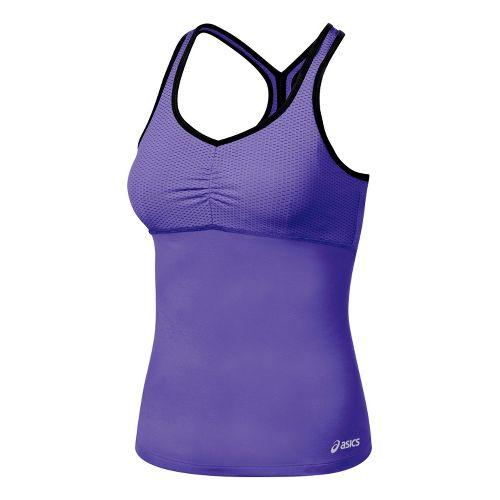Womens ASICS Abby Shimmel Sport Top Bras - Jewel/Black L