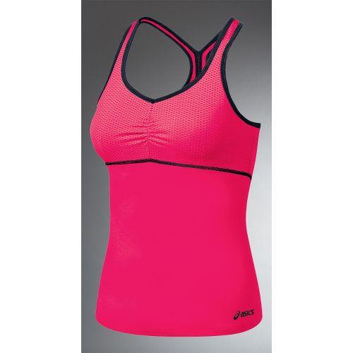 Womens ASICS Abby Shimmel Sport Top Bras - Watermelon/Iron S