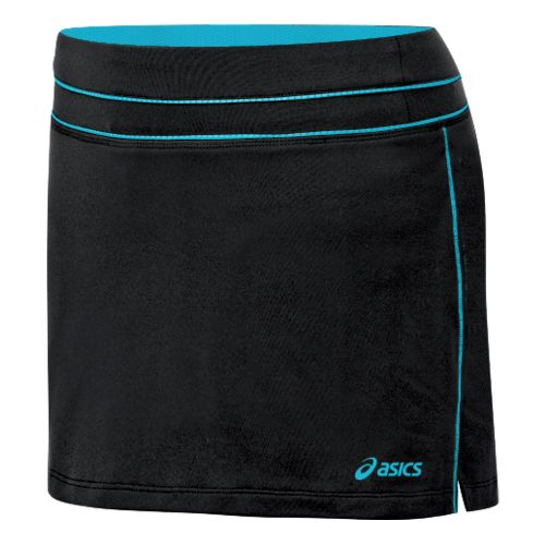 Womens ASICS Abby Skort Fitness Skirts - Black/Aqua XS