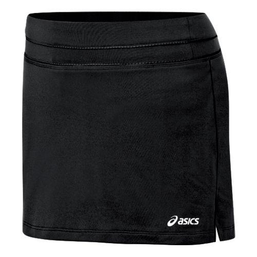 Womens ASICS Abby Skort Fitness Skirts - Black/Black XL