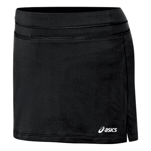 Womens ASICS Abby Skort Fitness Skirts - Black/Black XS