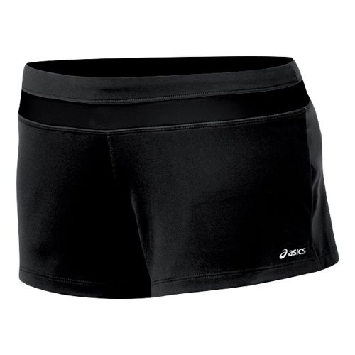 Womens ASICS Abby Loose Fit Short Fitted Shorts - Black/Black XL