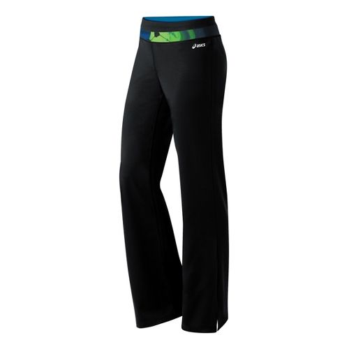 Womens ASICS Abby Pant Full Length Pants - Black/Green S