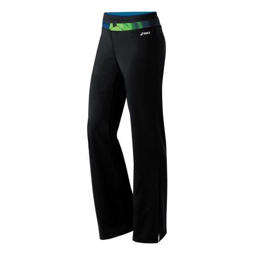 Womens ASICS Abby Pant Full Length Pants - Black/Green S