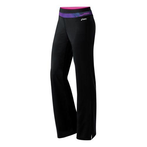 Womens ASICS Abby Pant Full Length Pants - Black/Jewel XL